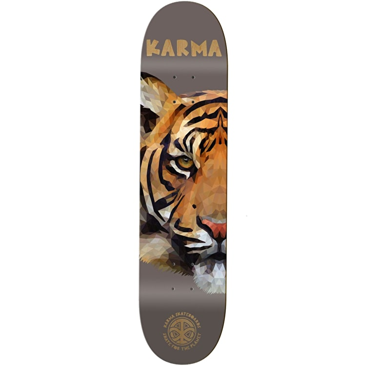 Karma Nature Skate For The Planet Skateboard Deck - Tiger 8""