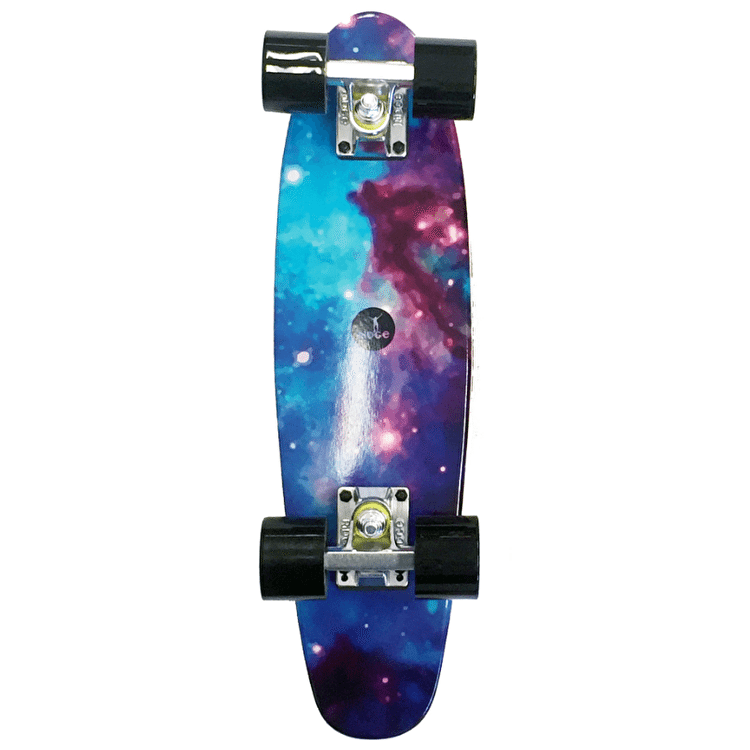 "Ridge 22"" Mini Motif Galaxy Complete Cruiser Skateboard"