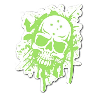 MGP Skull Splat Sticker - Green