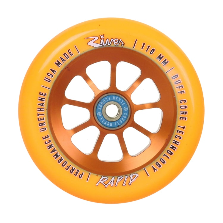 River Wheels 110mm Rapids Scooter Wheel - Orange