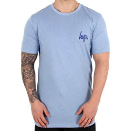 Hype Cat Grid T-Shirt - Blue/White
