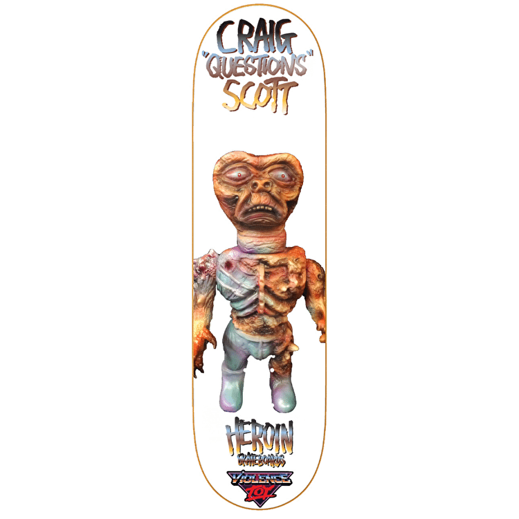 """Heroin Violence Toy Skateboard Deck - Craig Questions 8.44"""""""