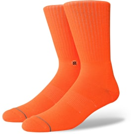 Stance Icon Anthem Socks - Florescent Orange