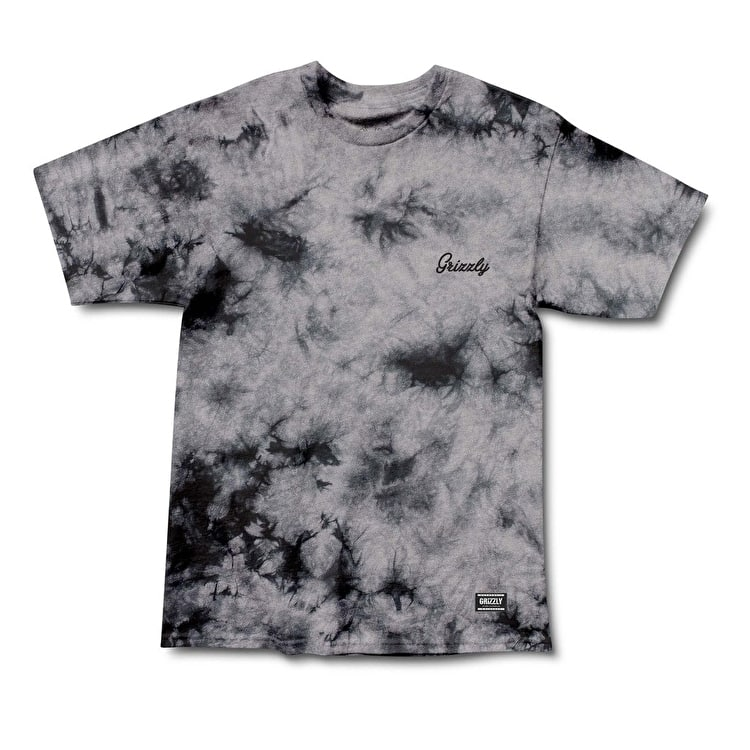 Grizzly Cursive Tonal Embroidery T-Shirt - Black