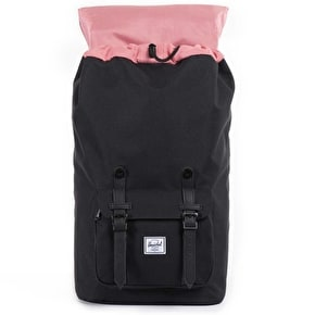Herschel Little America Backpack - Black/Black Synthetic Leather