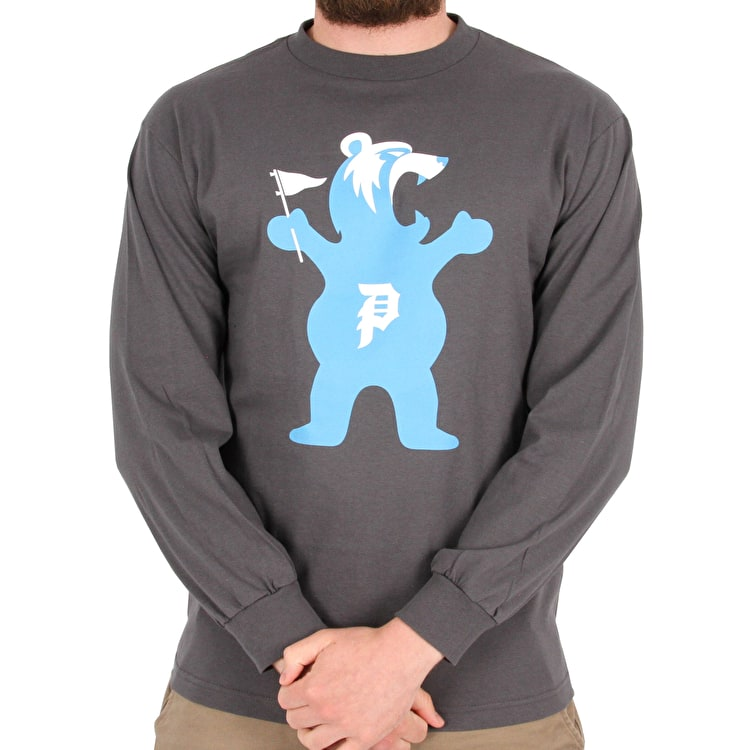 Primitive x Grizzly Mascot Long Sleeve T shirt - Grey