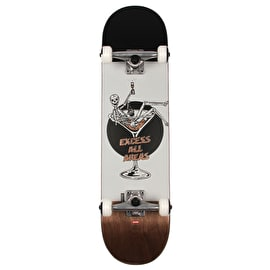 Globe Excess Complete Skateboard - White/Brown 8