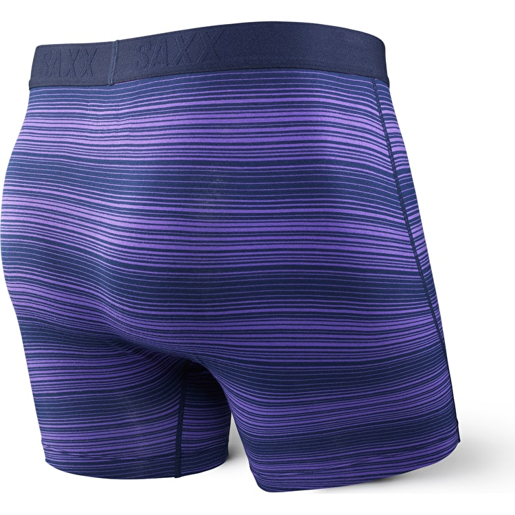 Saxx Ultra Fly Boxers - Navy Ombre Stripe