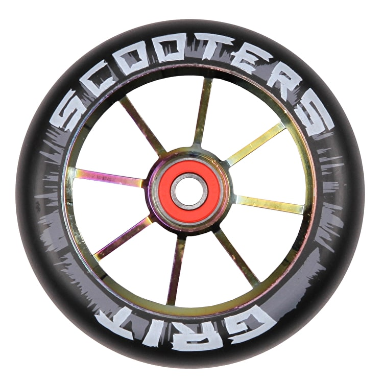 Grit 8 Spoke ACW 110mm Scooter Wheel - Black/Neochrome