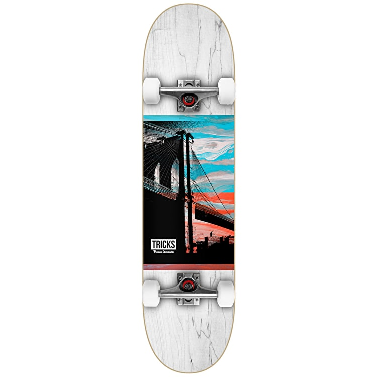 Tricks Town Complete Skateboard - 7.87""