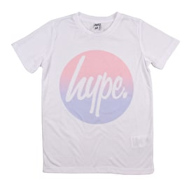 Hype Circle Fade Kids T Shirt - White/Multi