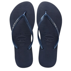 Havaianas Ladies' Slim Flip Flops - Navy Blue