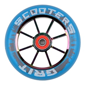 Grit 8 Spoke ACW 110mm Scooter Wheel - Blue/Neochrome