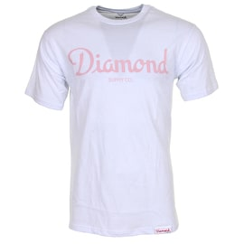 Diamond Champagne T-Shirt - White
