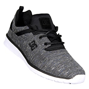 DC Heathrow TX LE Skate Shoes - Black/Black/Grey