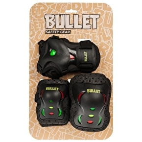 B-Stock Bullet Junior Triple Padset - Rasta - Medium (scratched and soiled)