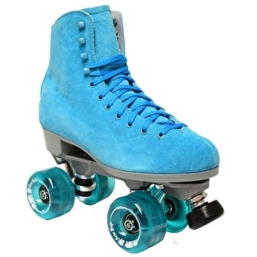 Sure-Grip Boardwalk Suede Quad Roller Skates- Malibu Blue