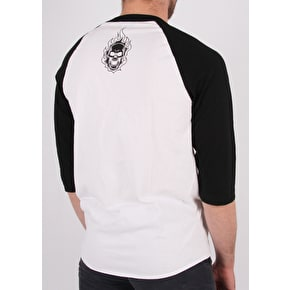 Creature 3/4 Sleeve Raglan Logo T-Shirt - White/Black