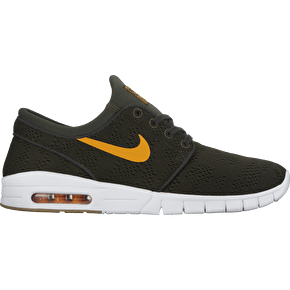 Nike SB Stefan Janoski Max Skate Shoes - Sequoia/Circuit Orange