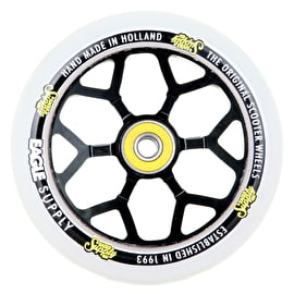 Eagle Sport 110mm 6M Spoked Scooter Wheel - Black/White PU