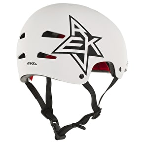 B-Stock REKD Elite Icon Helmet - White/Black SML (Cosmetic Damage)