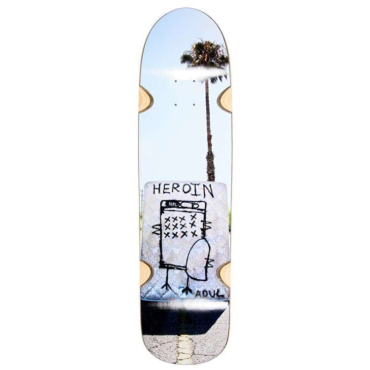 Heroin Childress 'Missing Mattress' Skateboard Deck - 8.5""