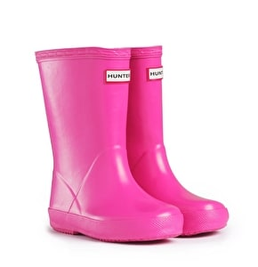 Kids Hunter First Wellington Boots - Fuchsia