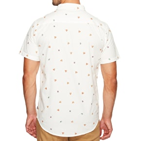 Globe Pizza Short Sleeve Shirt - Off White