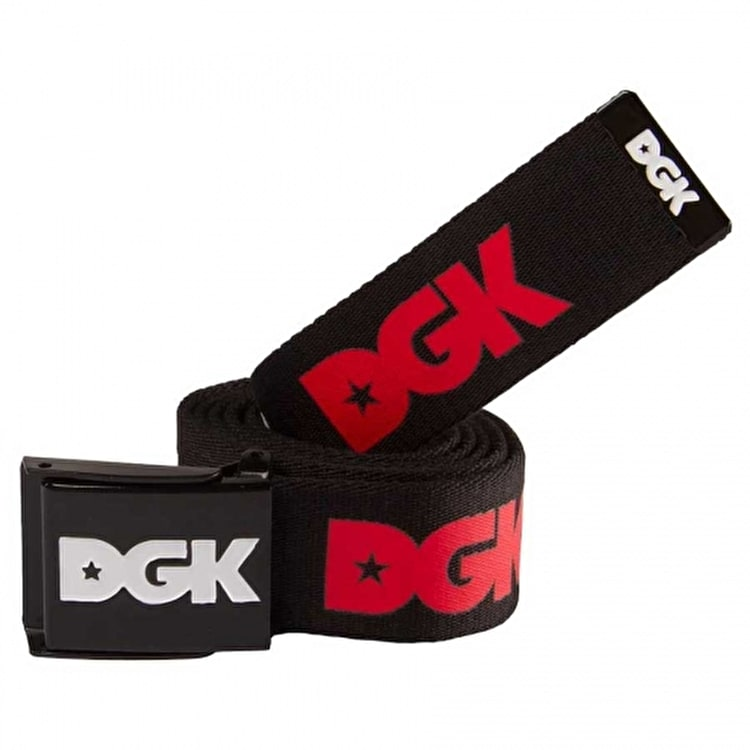 DGK Haters Scout Belt - Black/Red