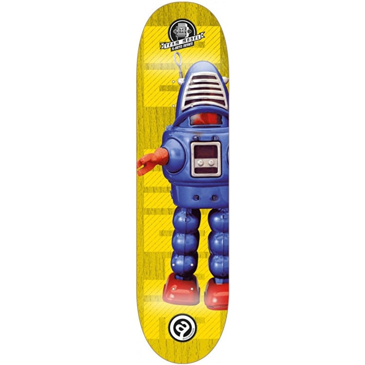 About Pro Series A-Bots Skateboard Deck - Team 8""