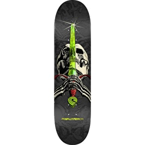 Powell Peralta One Off Skull & Sword Skateboard Deck - Grey 7.88