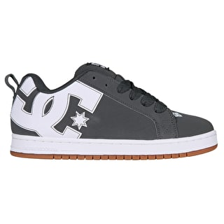 DC Court Graffik Skate Shoes - Grey/Gum