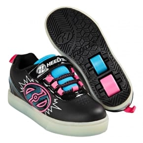 Heelys X2 POW Lighted - Black/Neon Blue/Neon Pink
