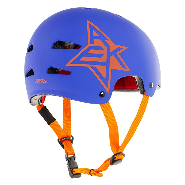 REKD Elite Icon Helmet - Blue/Orange