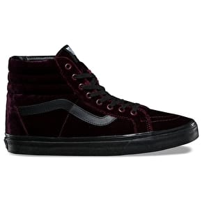 Vans SK8-Hi Reissue Skate Shoes - (Velvet) Red/Black