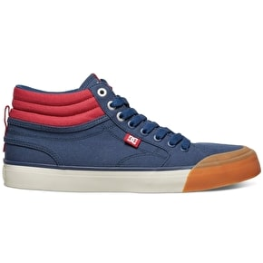 DC Evan Smith Hi Shoes - Navy/Red