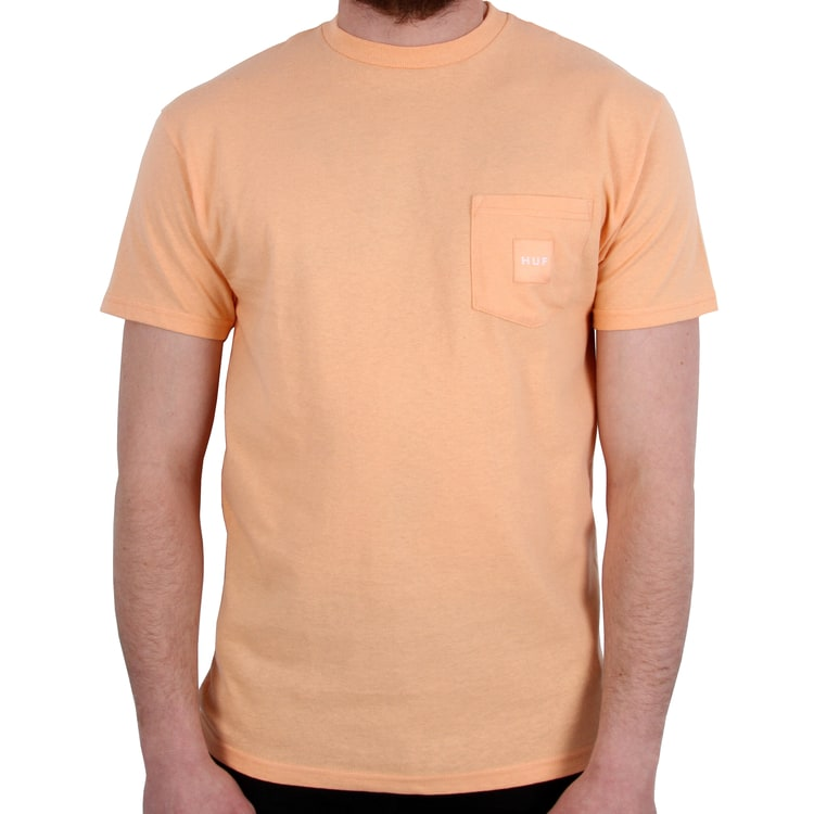 Huf Box Logo Pocket (Woven Label) T-Shirt - Peach