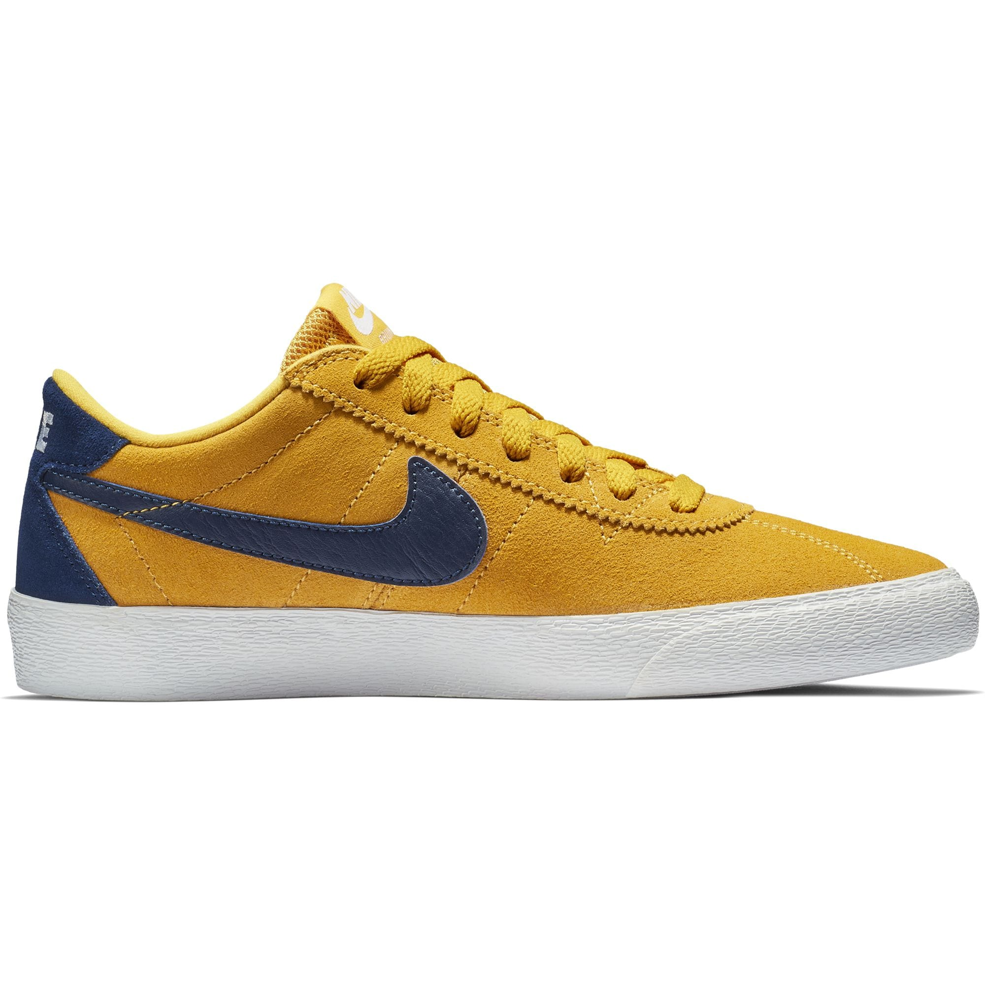 Nike SB Bruin Lo Womens Skate Shoes - Yellow Ochre/Blue Void/White