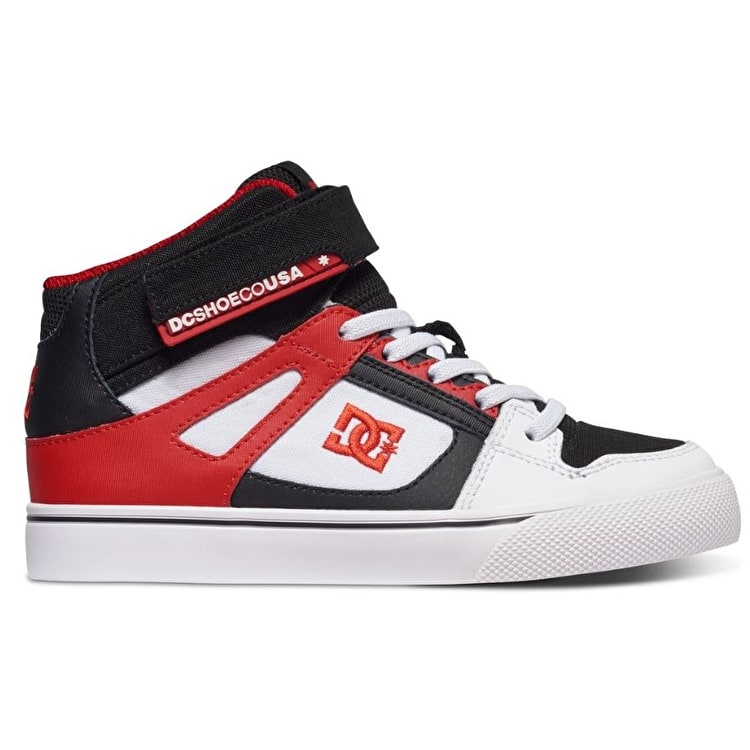 DC Spartan High EV Kids Shoes - White/Black/Red