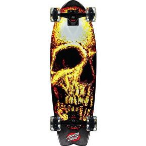 Santa Cruz Night Creeper Shark Glow Complete Cruiser - Glow in the Dark 27.7