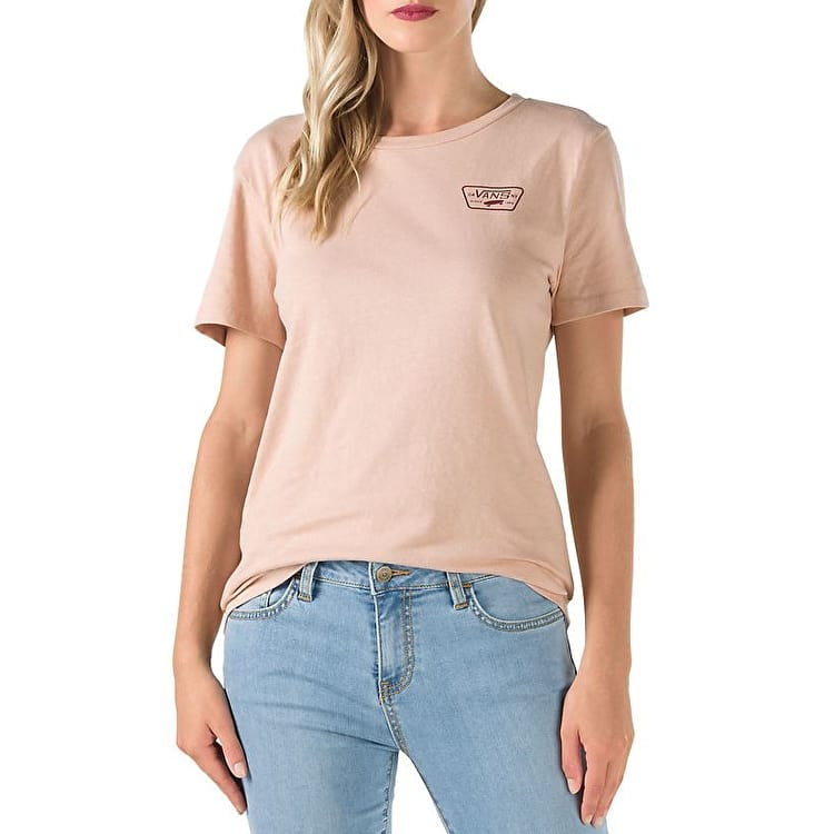 Vans Full Patch Womens T Shirt - Mahogany Rose | Vans Clothing Vans Skate Wear Hats Socks T ...