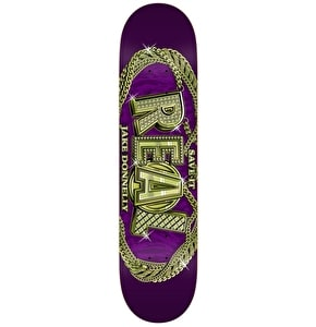 Real Skateboard Deck - Pro Oval Chainz Donnelly Purple 8.125