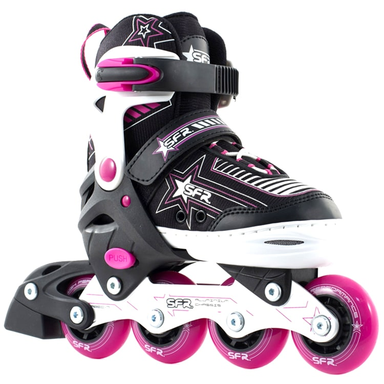 SFR Kids' Inline Skates - Pulsar Adjustable Pink