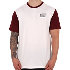 Brixton Palmer Knit T-Shirt - Off White
