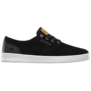 Emerica The Romero Skate Shoes - Black/Black/White