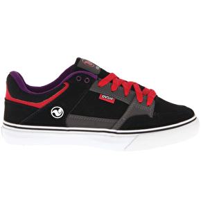 DVS Ignition CT Kids Shoes - Black/Charcoal/Purple