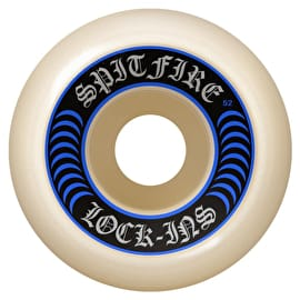 Spitfire Formula Four Lock Ins 99D Skateboard Wheels - Blue 52mm (Pack of 4)
