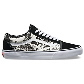 Vans Old Skool Shoes - (Newsprint) Black/White