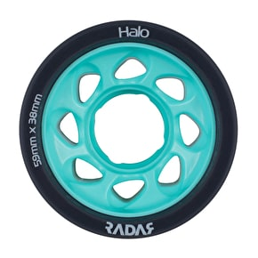 Radar Halo 59mm Roller Skate Wheels x 4 - Charcoal/Teal 88A