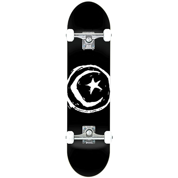 Foundation Star & Moon Complete Skateboard - Black 8.0""